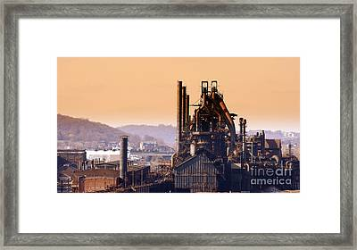 Bethlehem Steel Framed Print by Marcia L Jones