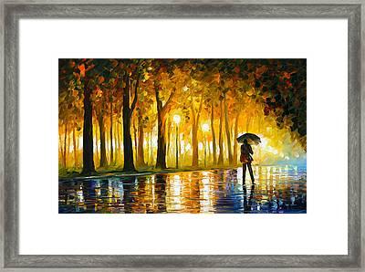 Bewitched Park Framed Print by Leonid Afremov