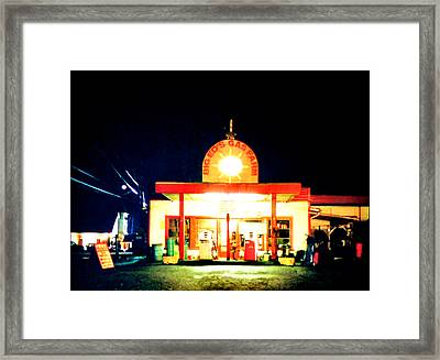 Big Eds Gas Farm Framed Print by Luis Ludzska