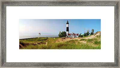 Big Sable Point Lighthouse, Lake Framed Print by Panoramic Images