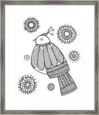 Bird Dove Framed Print by Neeti Goswami