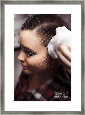 Birdcage Veil Framed Print by Jorgo Photography - Wall Art Gallery
