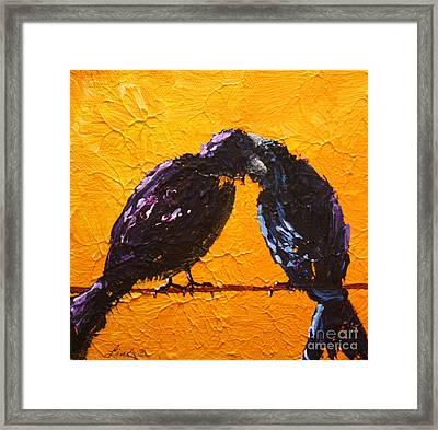 Birds In Black Framed Print by Linda Eversole