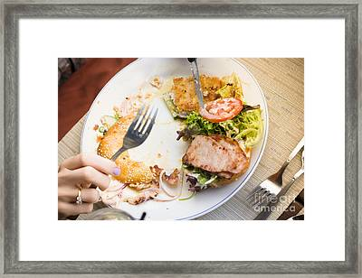 Bistro Patron Halfway Through Chicken Salad Bagel Framed Print by Jorgo Photography - Wall Art Gallery