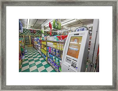 Bitcoin Atm Framed Print by Jim West