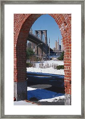 Bklyn Bridge Framed Print by Bruce Bain