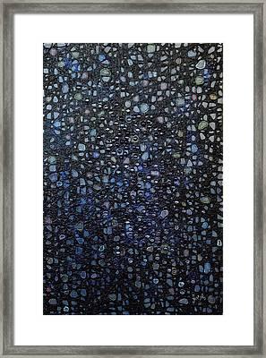 Black Rain Framed Print by Donna Blackhall