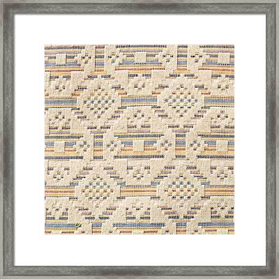 Blanket Detail Framed Print by Tom Gowanlock