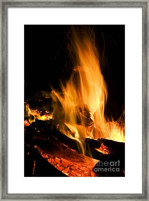 Blazing Campfire Framed Print by Jorgo Photography - Wall Art Gallery