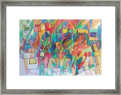 Blessed Is Hashem Life Of All The Worlds Framed Print by David Baruch Wolk