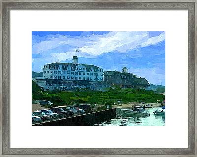 Block Island Framed Print by Lourry Legarde