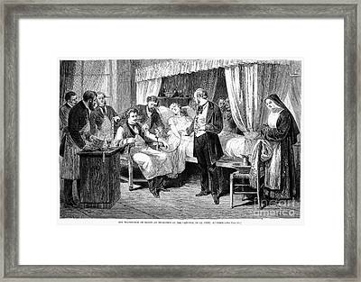 Blood Transfusion, 1874 Framed Print by Granger