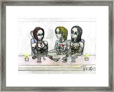 Bloodrayne's Night Out Framed Print by Jody Anthony Thompson