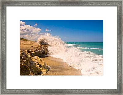Blowing Rocks Preserve Framed Print by Rich Leighton