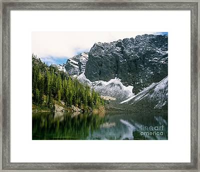 Blue Lake Framed Print by Tracy Knauer