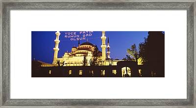 Blue Mosque, Istanbul, Turkey Framed Print by Panoramic Images