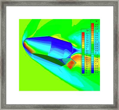 Blue Origin's Space Vehicle Testing Framed Print by Nasa/blue Origin