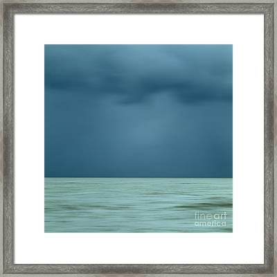 Blue Sea Framed Print by Bernard Jaubert