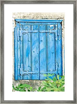 Blue Shutters Framed Print by Tom Gowanlock
