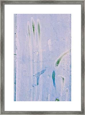 Blue Stone Background  Framed Print by Tom Gowanlock