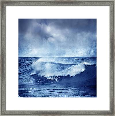 Blue Wave Framed Print by Guido Montanes Castillo
