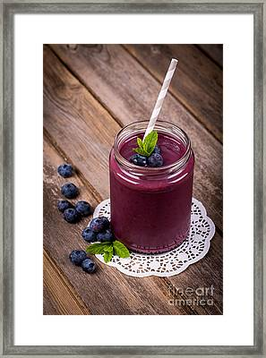 Blueberry Smoothie Framed Print by Jane Rix
