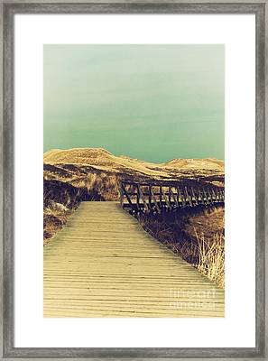 Boarded Walkway Framed Print by Angela Doelling AD DESIGN Photo and PhotoArt