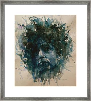Bob Dylan Framed Print by Paul Lovering