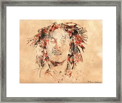 Bob Marley Framed Print by Mark Ashkenazi