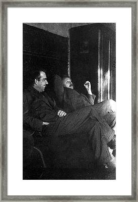 Bohr And Einstein Framed Print by Emilio Segre Visual Archives/american Institute Of Physics