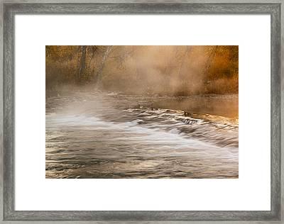 Boise River Autumn Morning Framed Print by Vishwanath Bhat