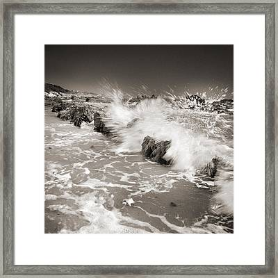 Bolonia Waves Framed Print by Guido Montanes Castillo