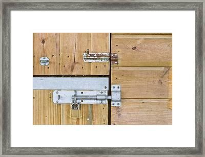 Bolts Framed Print by Tom Gowanlock