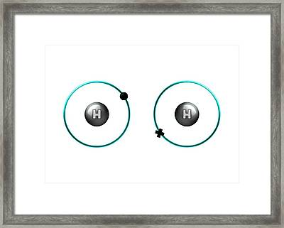 Bond Formation In Hydrogen Molecule Framed Print by Animate4.com/science Photo Libary