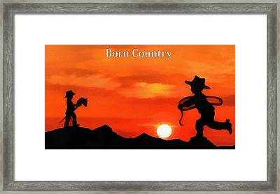 Born Country Framed Print by Dan Sproul