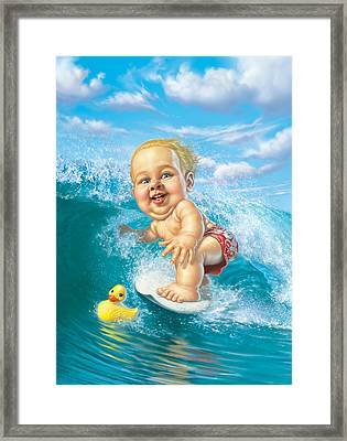 Born To Surf Framed Print by Mark Fredrickson