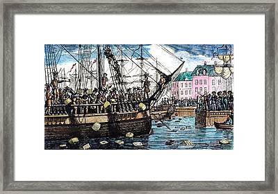 Boston Tea Party, 1773 Framed Print by Granger