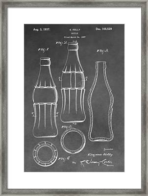Bottle Patent Framed Print by Dan Sproul