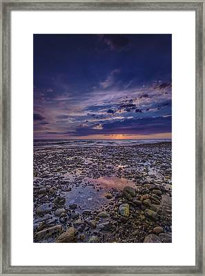 Bound Brook Sunset Framed Print by Rick Berk