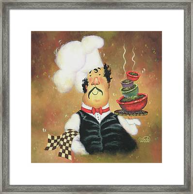 Bow Tie Chef Framed Print by Vickie Wade
