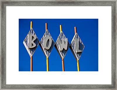 Bowl Framed Print by Matthew Bamberg