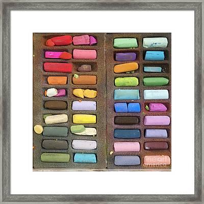 Box Of Pastels Framed Print by Bernard Jaubert