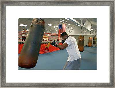 Boxer Training Framed Print by Jim West