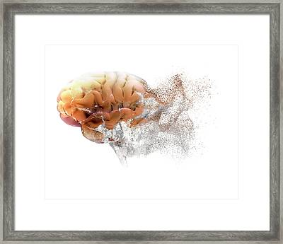 Brain Disease Framed Print by Christian Darkin