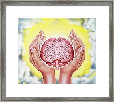 Brain Protection Framed Print by John Bavosi