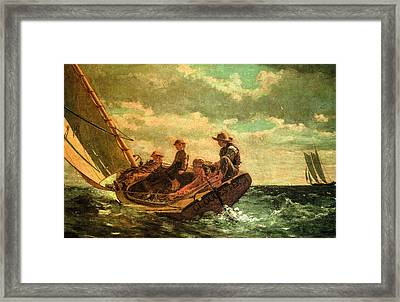Breezing Up Framed Print by Winslow Homer