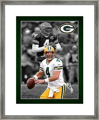 Brett Favre Packers Framed Print by Joe Hamilton