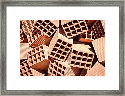 Bricks Framed Print by Tom Gowanlock