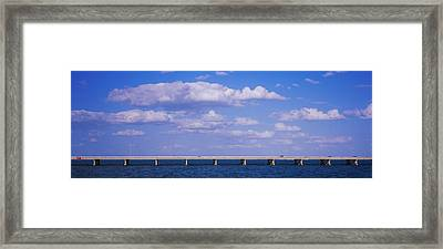 Bridge Across A Bay, Sunshine Skyway Framed Print by Panoramic Images
