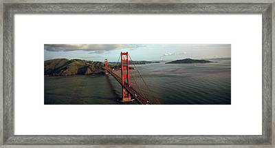 Bridge Over A Bay, Golden Gate Bridge Framed Print by Panoramic Images